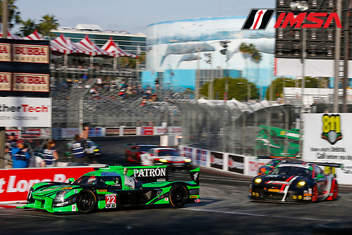 2017 IMSA WeatherTech SportsCar Championship<br /> BUBBA burger Sports Car Grand Prix at Long Beach<br /> Streets of Long Beach, CA USA<br /> Friday 7 April 2017<br /> 22, Nissan DPi, P, Ed Brown, Johannes van Overbeek<br /> World Copyright: Jake Galstad/LAT Images