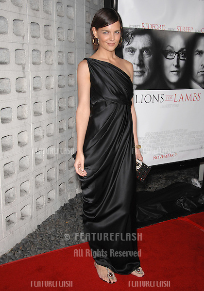"""Katie Holmes at the AFI Fest 2007 opening night gala presentation of """"Lions for Lambs"""" at the Cinerama Dome, Hollywood..November 2, 2007  Los Angeles, CA.Picture: Paul Smith / Featureflash"""