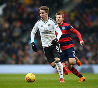17th March 2018, Craven Cottage, London, England; EFL Championship football, Fulham versus Queens Park Rangers; Stefan Johansen of Fulham sprinting with the ball