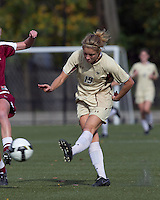 Boston College forward Kristen Mewis (19) shot eludes Florida State defender. Florida State University defeated Boston College, 1-0, at Newton Soccer Field, Newton, MA on October 31, 2010.