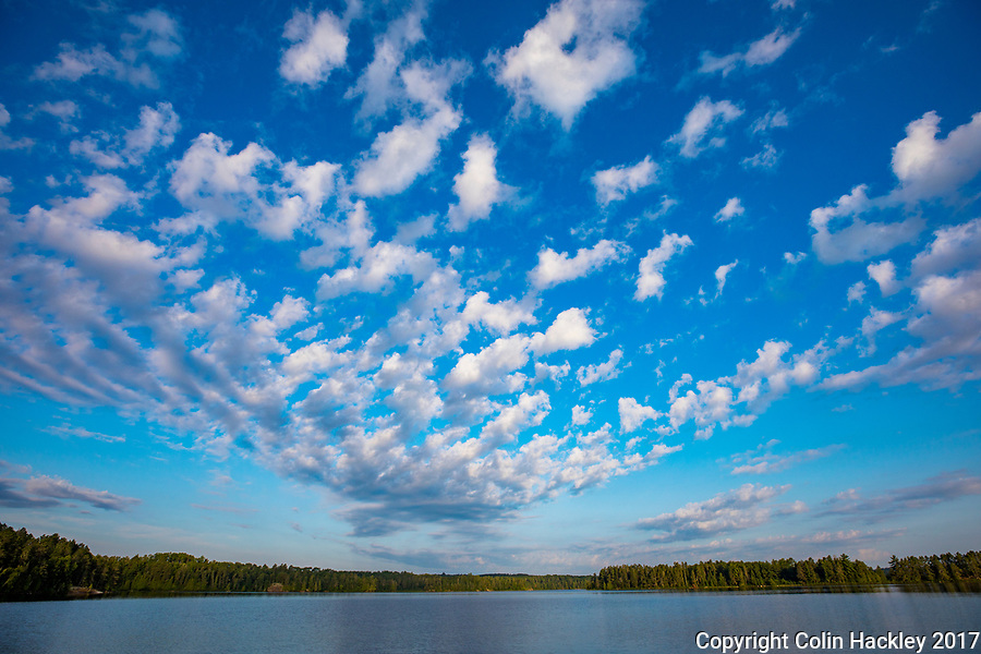 BWCA, MN, 7/30/17-Silence and still water as the day begins on Sunday Bay of the Boundary Waters Canoe Area's Crooked Lake.<br /> <br /> <br /> <br /> COLIN HACKLEY PHOTO
