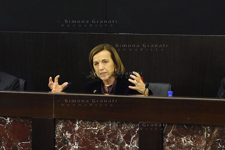 Roma, 4 Dicembre 2011.Il Governo Monti presenta alla stampa la manovra economica..La Ministro del Welfare Elsa Fornero