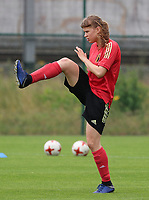 20200627 - TUBIZE , Belgium : Aster Janssens is pictured during a training session of the Belgian Red Flames U19, on the 27 th of June 2020 in Tubize.  PHOTO SEVIL OKTEM| SPORTPIX.BE