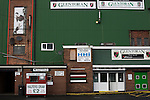 The half-time draw hut outside the main stand at The Oval, Belfast, pictured before Glentoran hosted city-rivals Cliftonville in an NIFL Premiership match. Glentoran, formed in 1892, have been based at The Oval since their formation and are historically one of Northern Ireland's 'big two' football clubs. They had an unprecendentally bad start to the 2016-17 league campaign, but came from behind to win this fixture 2-1, watched by a crowd of 1872.