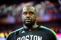 Jan. 28, 2011; Phoenix, AZ, USA; Boston Celtics center (36) Shaquille O'Neal against the Phoenix Suns at the US Airways Center. Mandatory Credit: Mark J. Rebilas-