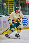 16 November 2013: University of Vermont Catamount Forward Chris McCarthy, a Senior from Collegeville, PA, in action against the Providence College Friars at Gutterson Fieldhouse in Burlington, Vermont. The Friars shut out the Catamounts to sweep the 2-game weekend Hockey East Series. Mandatory Credit: Ed Wolfstein Photo *** RAW (NEF) Image File Available ***
