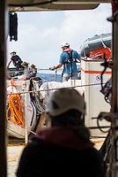 Sea Watch-2.<br /> Vorbereitung der Crew der Sea Watch-2 auf die 13. SAR-Mission vor der libyschen Kueste.<br /> 16.10.2016, Mediterranean Sea<br /> Copyright: Christian-Ditsch.de<br /> [Inhaltsveraendernde Manipulation des Fotos nur nach ausdruecklicher Genehmigung des Fotografen. Vereinbarungen ueber Abtretung von Persoenlichkeitsrechten/Model Release der abgebildeten Person/Personen liegen nicht vor. NO MODEL RELEASE! Nur fuer Redaktionelle Zwecke. Don't publish without copyright Christian-Ditsch.de, Veroeffentlichung nur mit Fotografennennung, sowie gegen Honorar, MwSt. und Beleg. Konto: I N G - D i B a, IBAN DE58500105175400192269, BIC INGDDEFFXXX, Kontakt: post@christian-ditsch.de<br /> Bei der Bearbeitung der Dateiinformationen darf die Urheberkennzeichnung in den EXIF- und  IPTC-Daten nicht entfernt werden, diese sind in digitalen Medien nach §95c UrhG rechtlich geschuetzt. Der Urhebervermerk wird gemaess §13 UrhG verlangt.]