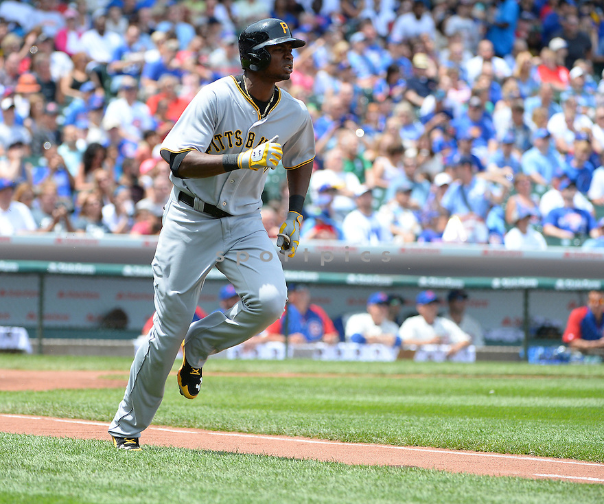 Pittsburgh Pirates Gregory Polanco (25) during a game against the Chicago Cubs on June 21, 2014 at Wrigley Field in Chicago, IL. The Pirates beat the Cubs 5-3.