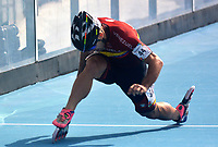 BARRANQUILLA - COLOMBIA, 21-07-2018: Jhoan Guzman, Venezuela, durante su participación en la categoría de patinaje de Velocidad como parte de los Juegos Centroamericanos y del Caribe Barranquilla 2018. /  Jhoan Guzman, Venezuela, during his participation in the speed skatingcategory of the Central American and Caribbean Sports Games Barranquilla 2018. Photo: VizzorImage / Alfonso Cervantes / Cont