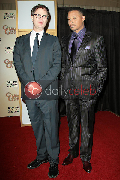 Rainn Wilson and Terrence Howard <br /> at the 66th Annual Golden Globe Awards Nomination Announcement Press Conference. Beverly Hilton Hotel, Beverly Hills, CA. 12-11-08<br /> Dave Edwards/DailyCeleb.com 818-249-4998