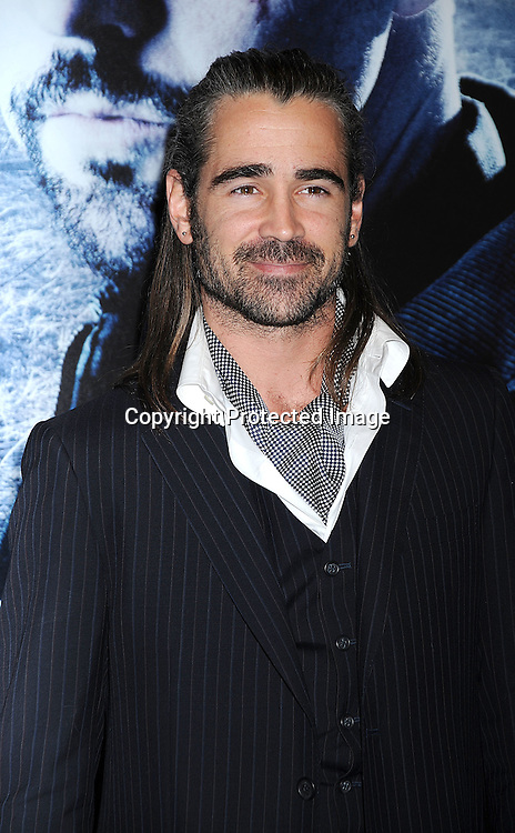 "actor Colin Farrell.posing for photographers at The New York Premiere of .""Pride and Glory"" on October 15, 2008 at The AMC Loews Lincoln Square 13 Theatre in New York City. .Edward Norton, Colin Farrell, Jon Voight, Noah Emmerich, Jennifer Ehle, Lake Bell, John Ortiz and Frank Grillo are in the movie, ..Robin Platzer, Twin Images"