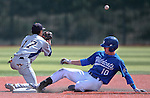 Western Nevada College's Alex Fife slides safely into second base after hitting a double against the College of Southern Nevada at John L. Harvey field, on Sunday, April 27, 2014, in Carson City, Nev.<br /> Photo by Cathleen Allison/Nevada Photo Source
