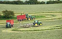 Forage harvesting grass, West Marton, North Yorkshire.