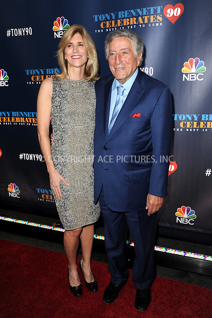 www.acepixs.com<br /> September 15 2016 New York City<br /> <br /> Susan Crowe and Tony Bennett attending Tony Bennett Celebrates 90: The Best Is Yet To Come at Radio City Music Hall on September 15, 2016 in New York City.<br /> <br /> Credit: Kristin Callahan/ACE Pictures<br /> <br /> <br /> Tel: 646 769 0430<br /> Email: info@acepixs.com