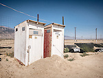 Wooden outhouses, Hawthorne Speedway (racing track), Hawthorne, Nevada
