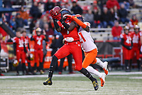 College Park, MD - October 27, 2018: Maryland Terrapins wide receiver Dontay Demus (7) catches a pass during the game between Illinois and Maryland at  Capital One Field at Maryland Stadium in College Park, MD.  (Photo by Elliott Brown/Media Images International)