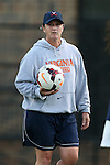 26 September 2013: Virginia assistant coach Kerry Dziczkaniec. The Duke University Blue Devils hosted the University of Virginia Cavaliers at Koskinen Stadium in Durham, NC in a 2013 NCAA Division I Women's Soccer match. Virginia won the game 3-2.
