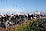 Eid al Adha holiday in the Circassian (Muslim) village Rehaniya in the Upper Galilee, Israel. The men on their way to the cemetery, 2005<br />