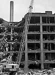 Pittsburgh PA:  The demolition of the General Electric Supply Building on the North Side of Pittsburgh - August 11, 1950.