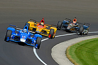 Verizon IndyCar Series<br /> Indianapolis 500 Carb Day<br /> Indianapolis Motor Speedway, Indianapolis, IN USA<br /> Friday 26 May 2017<br /> Tony Kanaan, Chip Ganassi Racing Teams Honda, Ryan Hunter-Reay, Andretti Autosport Honda, James Hinchcliffe, Schmidt Peterson Motorsports Honda<br /> World Copyright: F. Peirce Williams