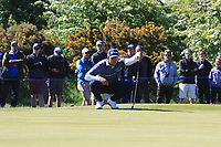 Dimitrios Papadatos (AUS) on the 4th green during Round 4 of the Betfred British Masters 2019 at Hillside Golf Club, Southport, Lancashire, England. 12/05/19<br /> <br /> Picture: Thos Caffrey / Golffile<br /> <br /> All photos usage must carry mandatory copyright credit (© Golffile | Thos Caffrey)