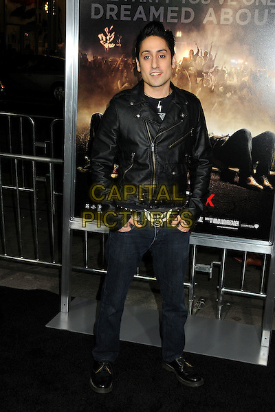 "Omar Doom.""Project X"" Los Angeles Premiere held at Grauman's Chinese Theatre, Hollywood, California, USA..February 29th, 2011.full length black jeans denim leather jacket  .CAP/ADM/BP.©Byron Purvis/AdMedia/Capital Pictures."