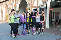 Martha Rojas, Jhon Gonzalez, Adely Rodriguez, Joy Taniguchi, Gena Kim, Soraya Maman and Veronica Ferrante attend Zumba and Yoga at LA Mother on May 10, 2016 (Photo by Inae Bloom/Guest of a Guest)