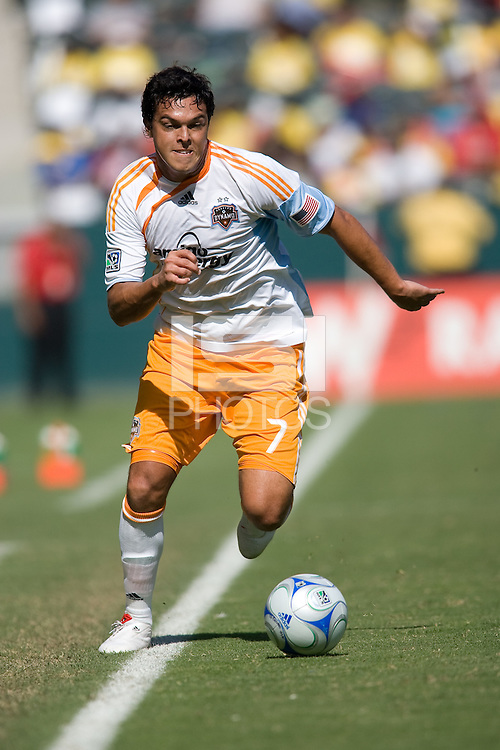 Houston Dynamo forward Luis Angel Landin moves forward along the line. The Houston Dynamo defeated Chivas USA 3-2 at Home Depot Center stadium in Carson, California on Sunday October 25, 2009...