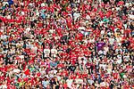 05.08.2018, Allianz Arena, Muenchen, GER, Testspiel,  FC Bayern Muenchen vs. Manchester United, im Bild DIe Bayern Fans in der Sued kurve machen keine Stimmung <br /> <br />  Foto &copy; nordphoto / Straubmeier
