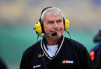 Oct. 3, 2009; Kansas City, KS, USA; NASCAR Nationwide Series official Bill Whelan during qualifying for the Kansas Lottery 300 at Kansas Speedway. Mandatory Credit: Mark J. Rebilas-