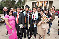 Siddharth Saravat and Steve Luu, center. The class of 2015 graduates during Occidental College's 133rd Commencement, the Remsen Bird Hillside Theater, on Sunday, May 17, 2015.<br />