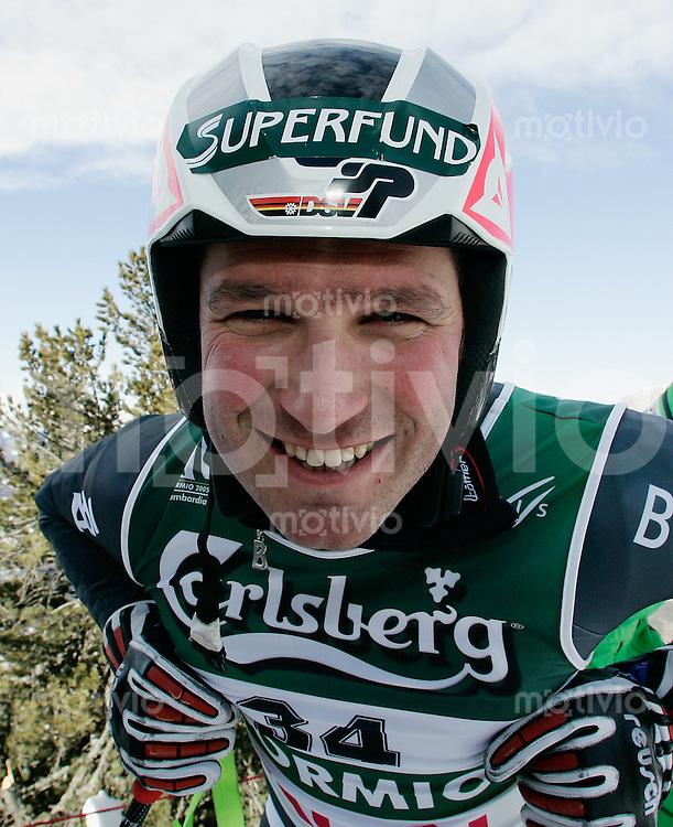 Ski Alpin; WM - Bormio 2005 Abfahrt Maenner Florian Eckert (GER)