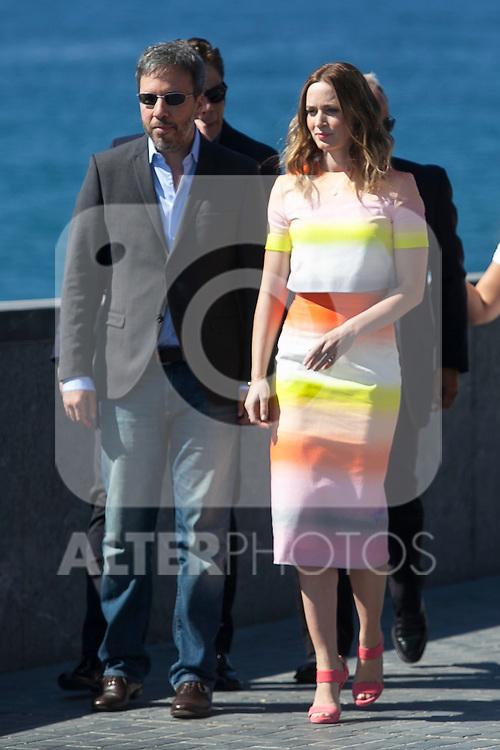 Denis Villeneuve and Emily Blunt pose during the `Sicario´ film presentation a 63rd Donostia Zinemaldia (San Sebastian International Film Festival) in San Sebastian, Spain. September 19, 2015. (ALTERPHOTOS/Victor Blanco)