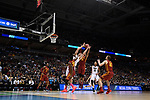 MILWAUKEE, WI - MARCH 18: Purdue Boilermakers center Isaac Haas (44) reaches up for a rebound during the first half of the 2017 NCAA Men's Basketball Tournament held at BMO Harris Bradley Center on March 18, 2017 in Milwaukee, Wisconsin. (Photo by Jamie Schwaberow/NCAA Photos via Getty Images)