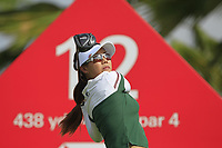 Jenny Shin (KOR) in action on the 12th during Round 1 of the HSBC Womens Champions 2018 at Sentosa Golf Club on the Thursday 1st March 2018.<br /> Picture:  Thos Caffrey / www.golffile.ie<br /> <br /> All photo usage must carry mandatory copyright credit (&copy; Golffile | Thos Caffrey)