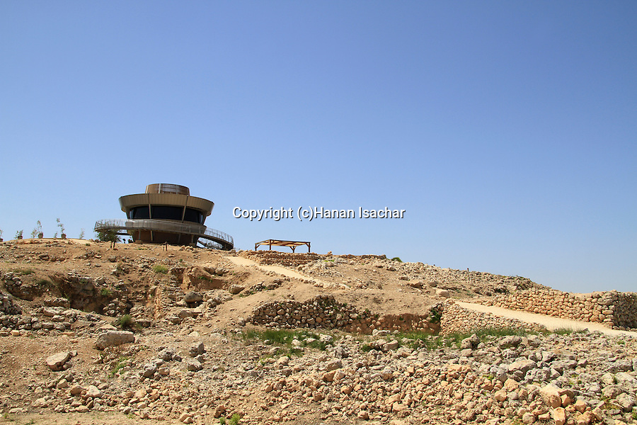 Samaria, the observation tower on the summit of Tel Shiloh