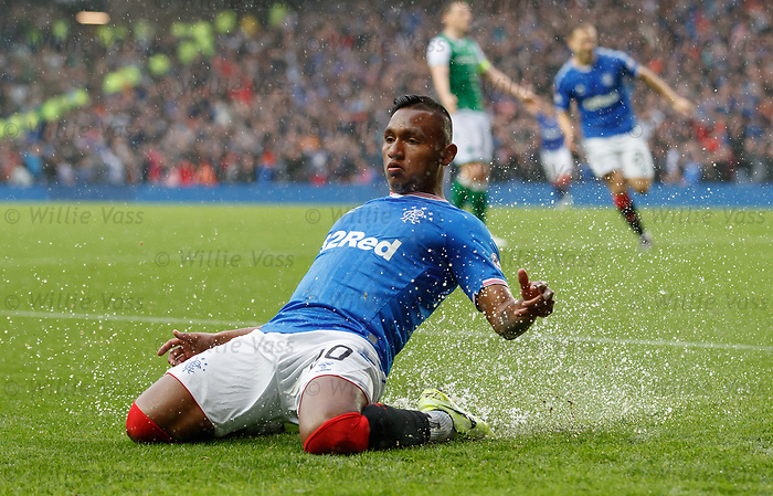 11.08.2019 Rangers v Hibs: El Water Buffalo after goal no 5