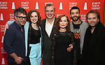 Trip Cullman, Odessa Young, Chris Noth, Isabelle Huppert, Justice Smith and Florian Zeller during the Opening Night after party for Atlantic Theater Company's 'The Mother' at The Gallery at the Dream Downtown on March 11, 2019 in New York City.