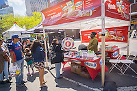 Minute Rice promotional booth at the Tribeca Film Festival in New York on Saturday, April 23, 2016. Minute Rice is a brand of Riviana Foods, part of Ebro Foods S.A. a Spanish food conglomerate. (© Richard B. Levine)