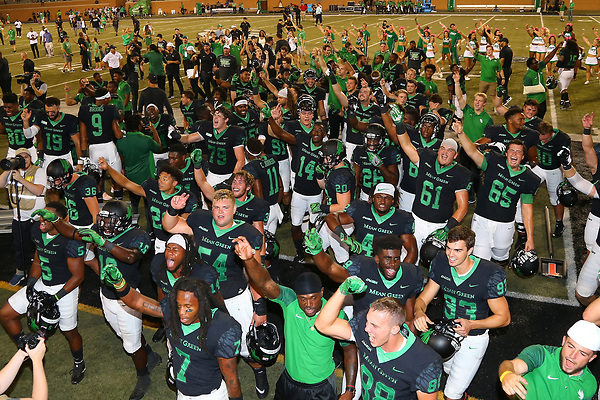University of North Texas Mean Green Football v UTSA Road Runners on October 14th, 2017 at Apogee Stadium in Denton, Texas. (Rick Yeatts)