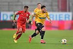 Spiel am 35 Spieltag in der Saison 2019-2020 in der 3. Bundesliga zwischen dem FC Ingolstadt 04 und dem SV Waldhof Mannheim am 24.06.2020 in Ingolstadt. <br /> <br /> Arianit Ferati (Nr.10, SV Waldhof Mannheim) vor Robin Krausse (Nr.23, FC Ingolstadt 04)<br /> <br /> Foto © PIX-Sportfotos *** Foto ist honorarpflichtig! *** Auf Anfrage in hoeherer Qualitaet/Aufloesung. Belegexemplar erbeten. Veroeffentlichung ausschliesslich fuer journalistisch-publizistische Zwecke. For editorial use only. DFL regulations prohibit any use of photographs as image sequences and/or quasi-video.