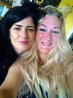 Pictured: Boudicca Scherazade (R), image found on her unlocked social media page<br /> Re: A Storage Hunters star is in court accused of bombarding a younger antiques dealer with kinky texts and voice messages in a three-year stalking campaign.<br /> 47 year old Boudicca Scherazade, who has appeared in the UK version of the popular US show, allegedly fell for Laurence Roche after meeting him through work but became enraged when he didn't return her affection.<br /> The trial at St Albans Magistrates Court continues.