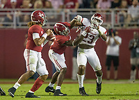 Hawgs Illustrated/BEN GOFF <br /> Arkansas vs Alabama Saturday, Oct. 14, 2017, at Bryant-Denny Stadium in Tuscaloosa, Ala.