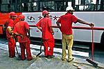 Trabalhadores da construção civil, São Paulo. 2004. Foto de Juca Martins.