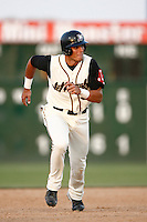 Aaron Bates of the Lancaster JetHawks during a California League baseball game on May 19, 2007 at The Hanger in Lancaster, California. (Larry Goren/Four Seam Images)