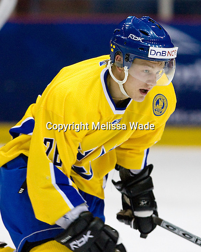 Oscar Moller (Sweden/Chilliwack Bruins - Stockholm, Sweden) - Team Sweden defeated US Team White 4-3 (SO) the late game at the 1980 Rink in Lake Placid, New York, during the Summer Hockey Challenge on Tuesday, August 7, 2007.