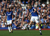 9th September 2017, Goodison Park, Liverpool, England; EPL Premier League Football, Everton versus Tottenham; Tom Davies of Everton makes a long pass with the outside of his right boot