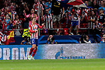 Atletico de Madrid's Antoine Griezmann celebrates goal during UEFA Champions League match between Atletico de Madrid and Club Brugge at Wanda Metropolitano Stadium in Madrid, Spain. October 03, 2018. (ALTERPHOTOS/A. Perez Meca)