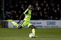 Bolton Wanderers' Toto Nsiala clears<br /> <br /> Photographer Andrew Kearns/CameraSport<br /> <br /> The EFL Sky Bet League One - Lincoln City v Bolton Wanderers - Tuesday 14th January 2020  - LNER Stadium - Lincoln<br /> <br /> World Copyright © 2020 CameraSport. All rights reserved. 43 Linden Ave. Countesthorpe. Leicester. England. LE8 5PG - Tel: +44 (0) 116 277 4147 - admin@camerasport.com - www.camerasport.com