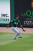 Daytona Tortugas right fielder Aristides Aquino (99) during a game against the Clearwater Threshers on April 20, 2016 at Bright House Field in Clearwater, Florida.  Clearwater defeated Daytona 4-2.  (Mike Janes/Four Seam Images)